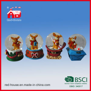 decorative unique custom handmade snow globes christmas deer inside home decoration