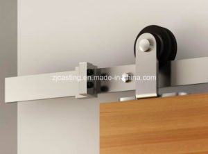 Silver Finish Barn Door Hardware Sliding Door Hardware