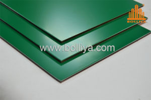 Dark Green Wood Orange Aluminum Composite Panels for Cladding
