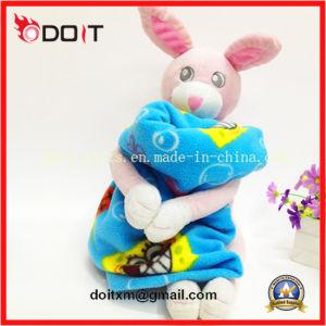 Children Cute Pink Rabbit Animal Soft Plush Toy Baby Blanket