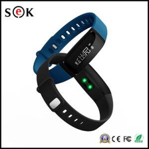 2017 Newest Wearable Wristband Blood Pressure Monitor Pedometer Smart Fitness Bracelet V07 pictures & photos
