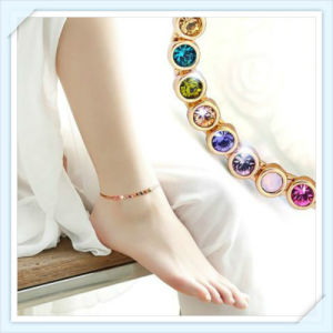 New Design Colorful Glass Stones Fashion Jewellery Anklet