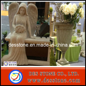 G682 and Shanxi Black Granite for Headstone Angel (DES-GH006)