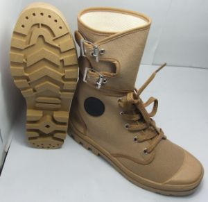 Army Desert Canvas Training Shoes with Buckle pictures & photos