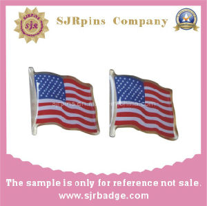 Offset Printing Pin, Flag Badge