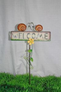 Metal Snail Welcome Stake (JW10041)