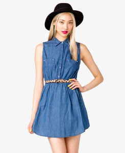 2013 Latest Women Denim Jeans Dress Designs for Summer S129016