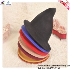 China Fashion Decorative Red Mini Top Felt Witch Hat - China Felt Hats 73a9a130915