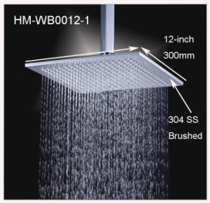 12 Inches Stainless Steel Brushed Finished Overhead Shower