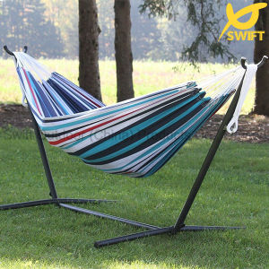 Double Cotton Hammock with Steel Stand