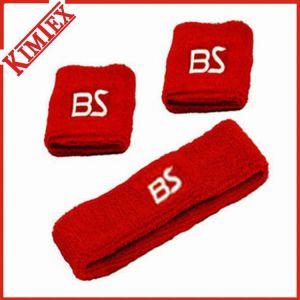 Terry Cotton Sport Embroidery Sweatband pictures & photos