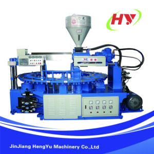 Full-Automatic Rotary Type Plastic Sole Injection Moulding Machine (Single Color/Double Colors) pictures & photos