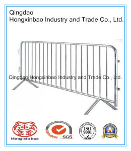 Temporary Metal Police Barrier with Cross Feet pictures & photos