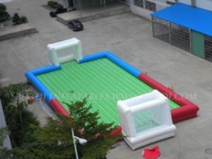 Inflatable Soap Football Pitch/Court, Inflatable Goal Football Pitch (B6025)