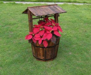 China Wooden Wishing Well Bucket Flower Planter Patio Garden Outdoor
