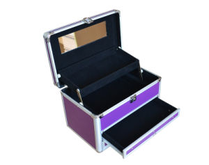 Aluminum Makeup Vanity Case/Portable Empty Hard Cosmetic Case pictures & photos
