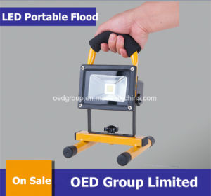 10W Portable Rechargeable LED Flood Light with Solar Panel pictures & photos