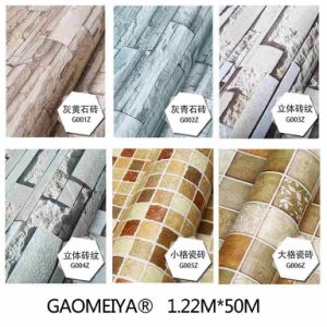 PVC Self-Adhesive Wallpaper Retro Brick Living Background Wallpaper pictures & photos