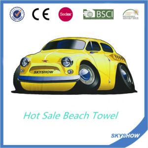 Printed Round Beach Towel with Inflatable Pillow Package pictures & photos