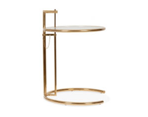 Eileen Gray Table in Rose Gold Finish  / Adjustable Table / Rose Gold End Table pictures & photos