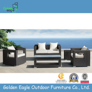 UV Resistant PE Rattan Furniture, 4PCS Simple Sofa