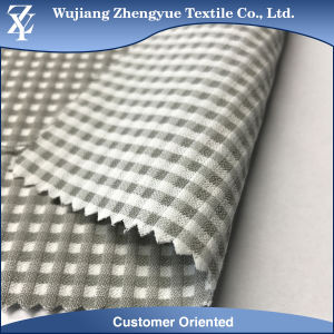Polyester Rayon Spandex Walf Checker Plaid Pattern Stretch Dress Fabric pictures & photos