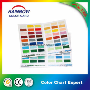 Emulsion Coating Color Chart Card in Double Sides pictures & photos