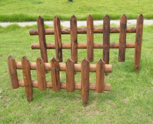 Vintage Burnt Wood Outdoor Garden Wooden Fence for Garden Decoration