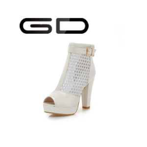 Ankle Boots Chunky Heel Hollow Upper Summer Shoes