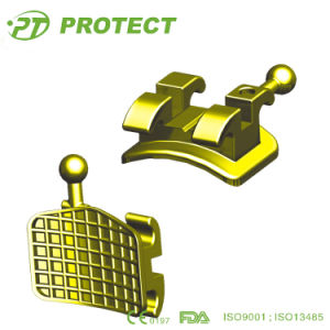 Dental Quality Golden Orthodontic Brackets with CE Certificate