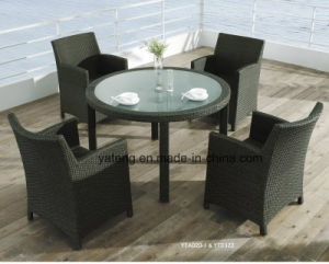 Waterproof Outdoor Rattan Furniture Dining Table Top Quality Hotel Table (YTD322) pictures & photos