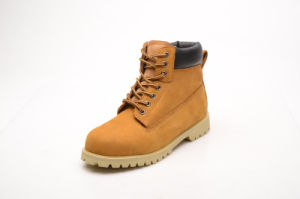 Hot Sell Yellow Nubuck Leather & PU Safety Shoes (LZ5003) pictures & photos