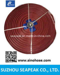 PVC Layflat Hose With Red Color pictures & photos