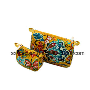 Lady Cosmetic Bag with Beauty Flower Printing