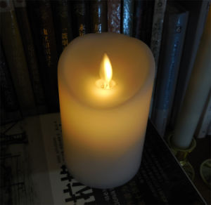 Plastic Moving Flameless LED Candles with Timer