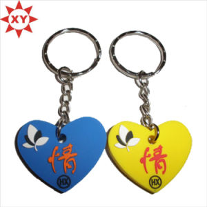 Factory Couple Key Rings Rubber for Promotion Gift (XY-MXL72804) pictures & photos