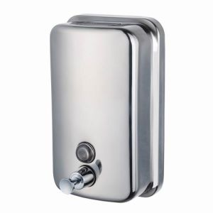 500ml Wall Mounted Without Lock Manual Stainless Steel 201 Liquid Soap Dispenser at Cheap Price