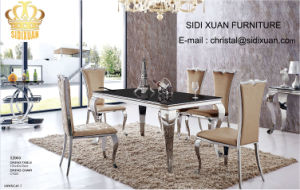 Dining Table / Living Room furniture / Restaurant Table / Stainless Steeltable / Hotel Chair / Banquet Chair / Glass Table / Modern Furniture Sj805+Cy023 pictures & photos