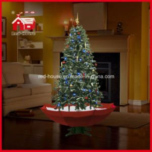 fake snow christmas tree with led lights for holiday decoration