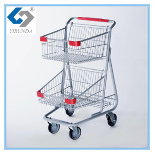 Canada Style Double Baskets Shopping Trolleys for Wholesale pictures & photos