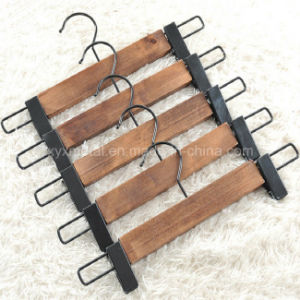 Ancient Style Wooden Pants Trousers Skirt Hanger with Metal Clips pictures & photos