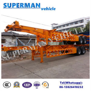 Double Axle Container Truck Semi Trailer for Cargo/ Frame/Skeletal pictures & photos