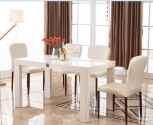 White Modern Wooden Dining Table