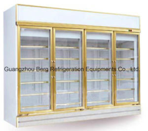 4 Door Soft Drink Display Glass Door Refrigerator with Ce pictures & photos
