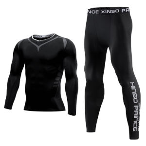 Gym High Elastic Long Sleeve Sports Suit