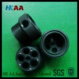 Customized Precision Turned Part, Black ABS Electric Eire Connecting Junction Base pictures & photos