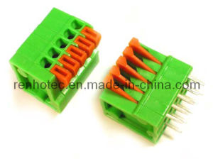 Plastic Terminal Block Connector 2.54mm Pitch, Spring Clamp Type pictures & photos