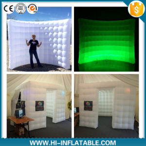 Colorful Lighting Advertising Inflatable Photo Booth Air Wall