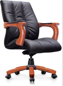 Stupendous Modern Low Back Chair Solide Wood Pu Office Chair Leather Chair 6219 Creativecarmelina Interior Chair Design Creativecarmelinacom