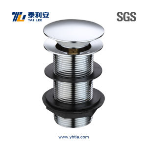Sanitary Ware Pop up Chrome Plated Brass Basin Waste Mushroom Cap (T1011)